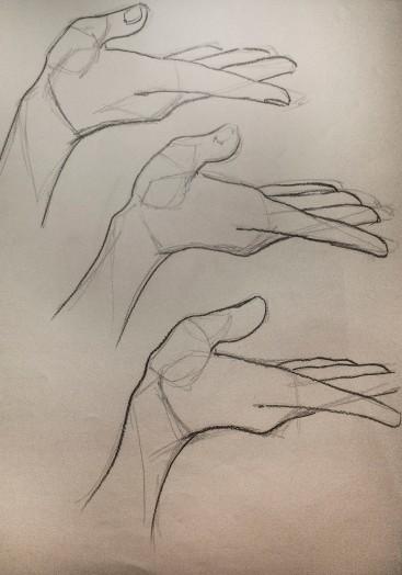 hands sketch structure